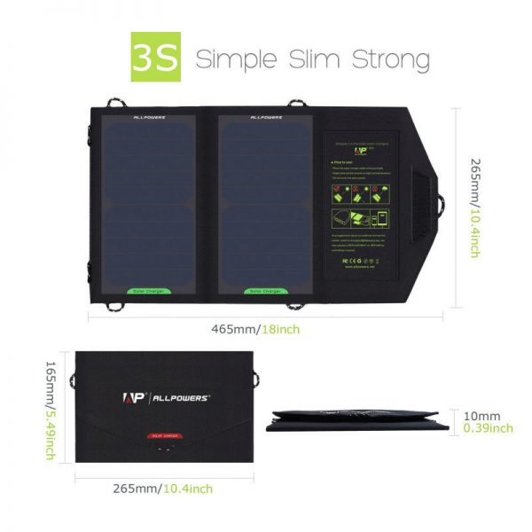 Solar Panel Charger Phone Battery Foldable