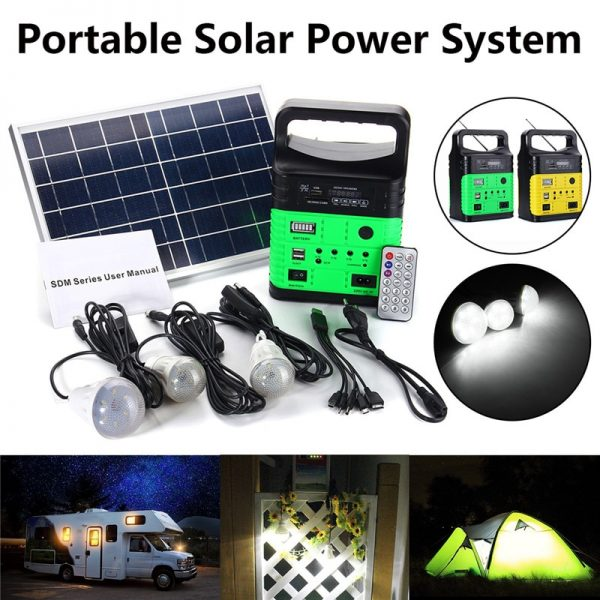 10W Solar Generator Battery Charging