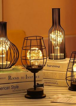 LED Light Copper Wire Battery Powered Table Lamp
