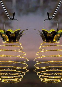 Pineapple Solar Lamp For Garden Yard Patio Lawn