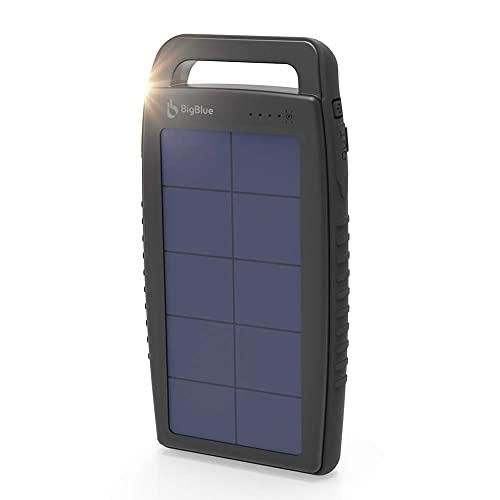 Solar Battery Charger 10000mAh IPX4 Waterproof Dual USB