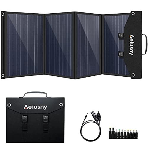 Aeiusny Solar Panel Foldable 120W Monocrystalline