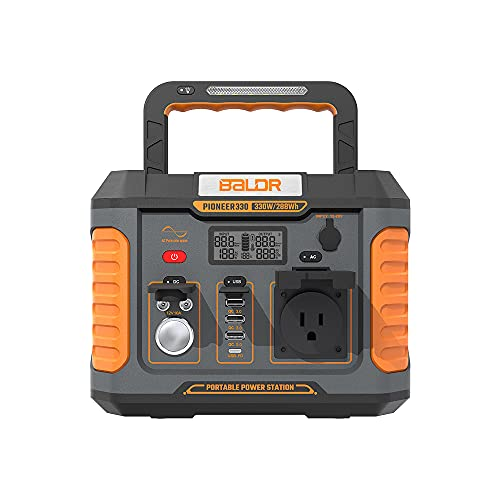 Baldr Portable Power Station 330W, 288Wh Emergency Backup