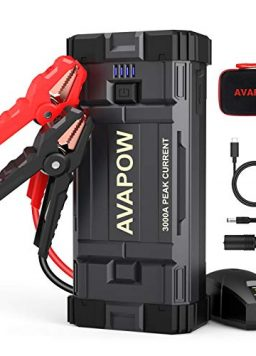 Battery Jump Starter Portable 23800mAh, 12V Jump Boxes for Vehicles(Up to 8L Gas/8L Diesel Engine)