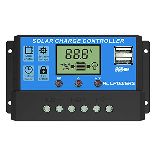 ALLPOWERS 20A Solar Charger Controller Solar Panel