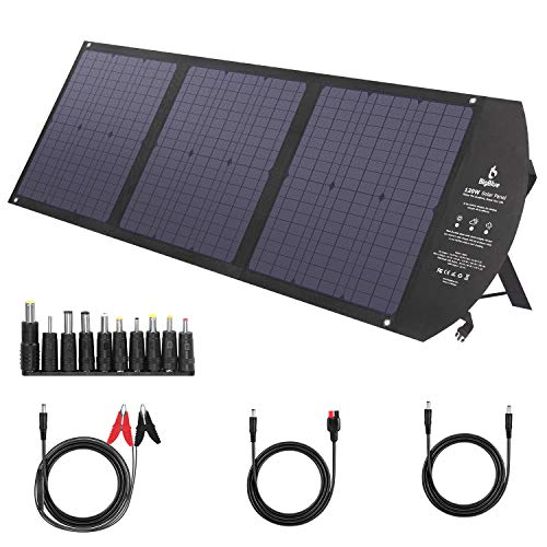 Foldable Camping Solar Charger Type C with Kickstands