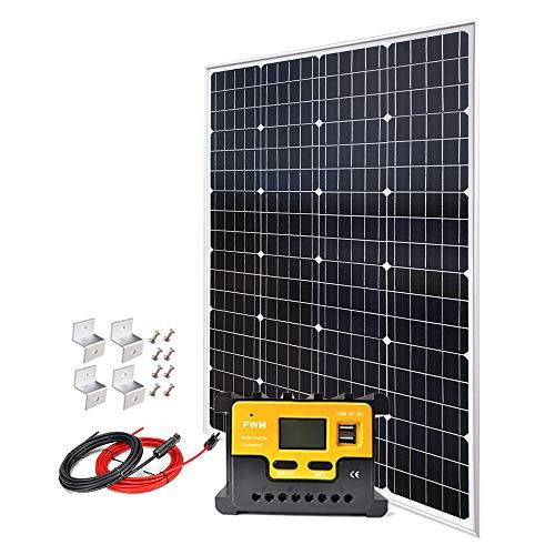 Giosolar 120W 12V Monocrystalline Solar Panel Kit