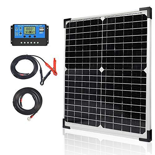 Apowery Solar Panel Kit 20W 12V Monocrystalline