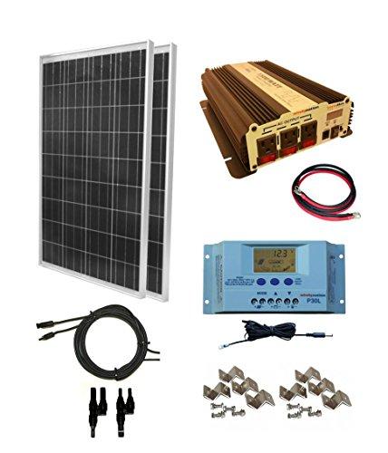 WindyNation 200 Watt (2pcs 100 Watt) Solar Panel Kit