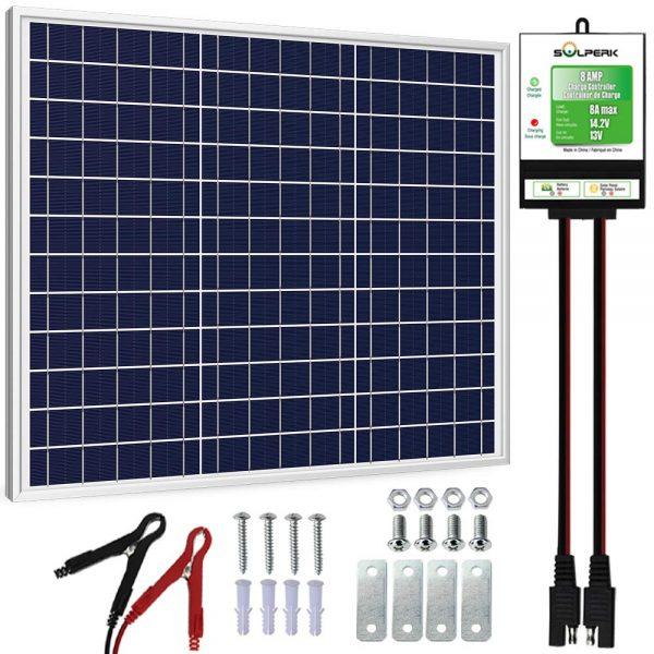 12V Solar Panel Charger Kit+8A Controller